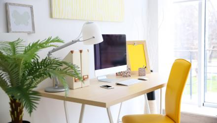 chic and bright home office